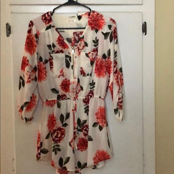 stella Tweed Other - Stella Tweed Floral Romper